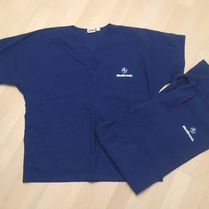 Landau Other - Medtronic Blue Scrubs Set